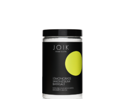 Joik Organic Vegan Toning and Relaxing Bath Salt with Lemongrass Essential Oil and Magnesium