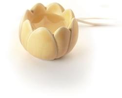 Thermogeursteen Lotus pastelgeel. 41001